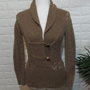 Old Navy Sweater Wool Blend Small Brown